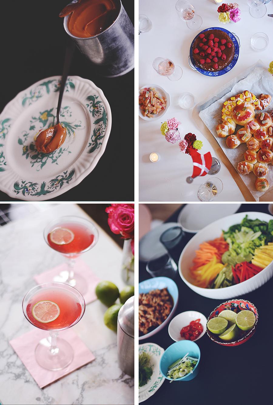 karamelcreme kagekone cosmopolitan friske vietnamesiske forårsruller