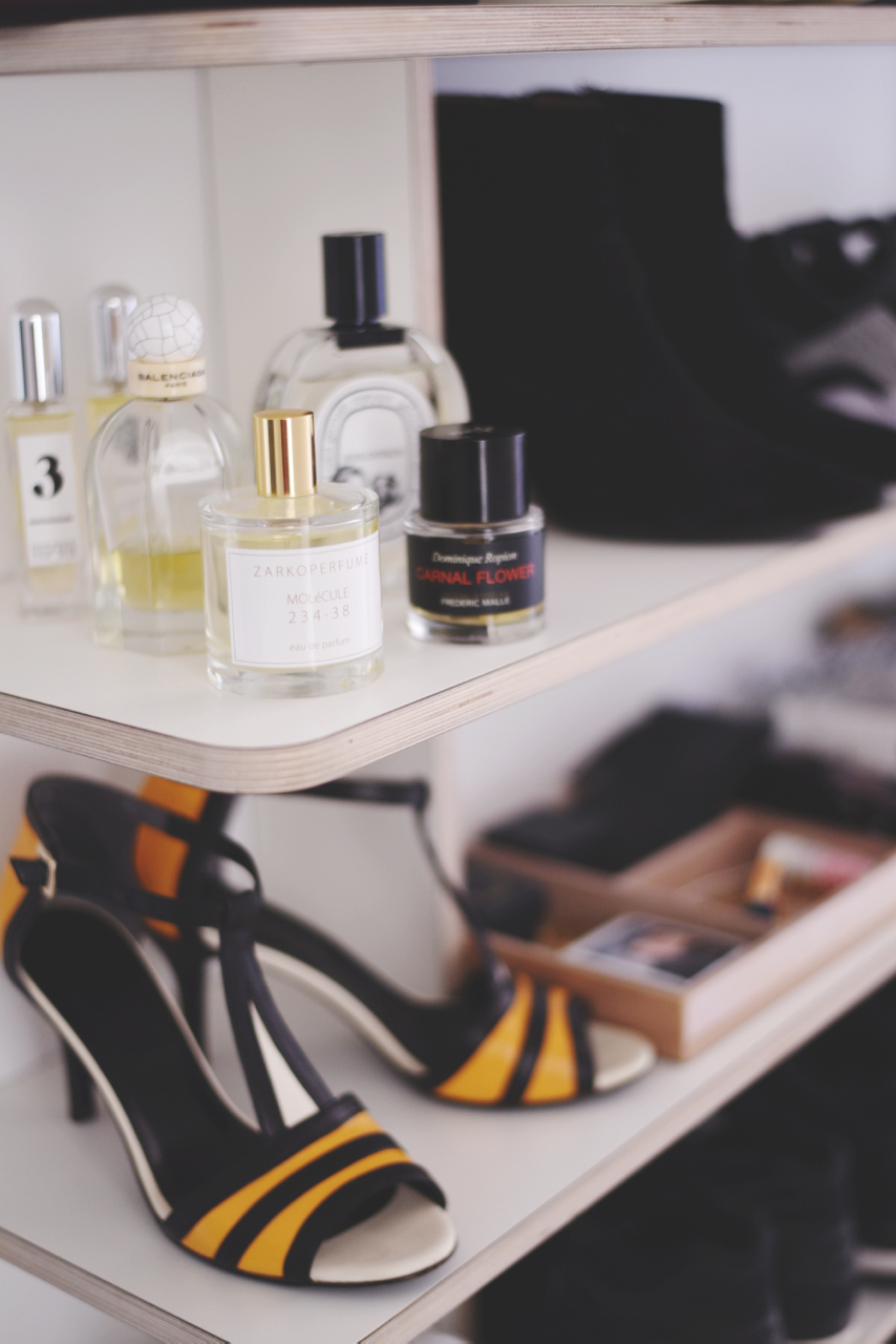 parfumer skohylde