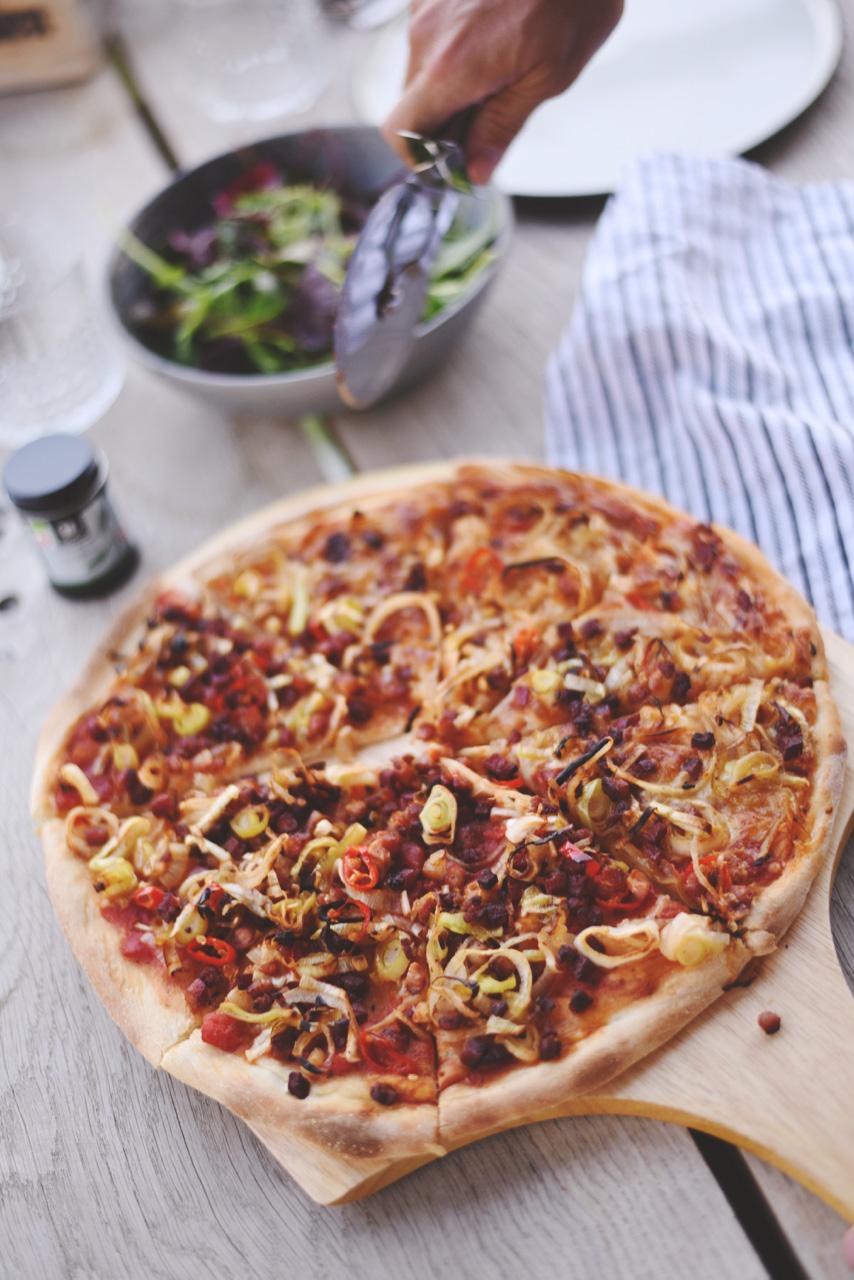 hvem opfandt pizza