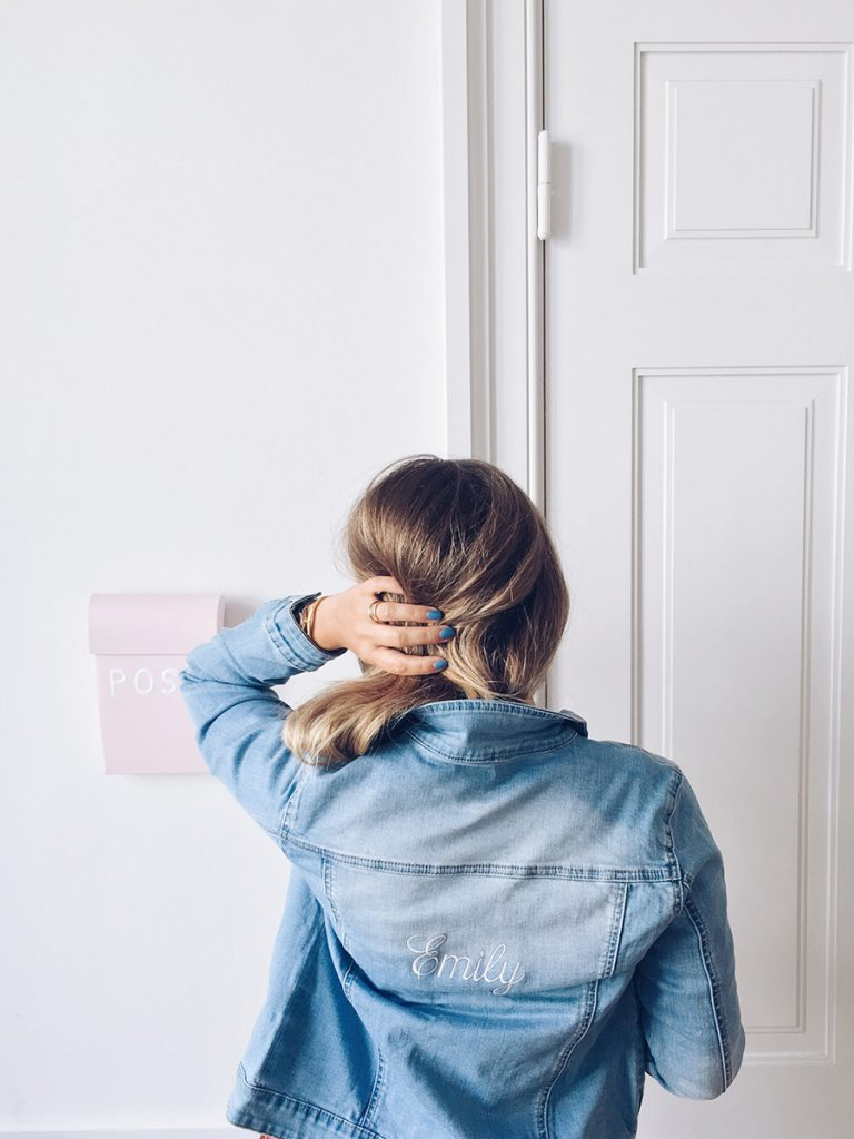 embroidered jacket denim