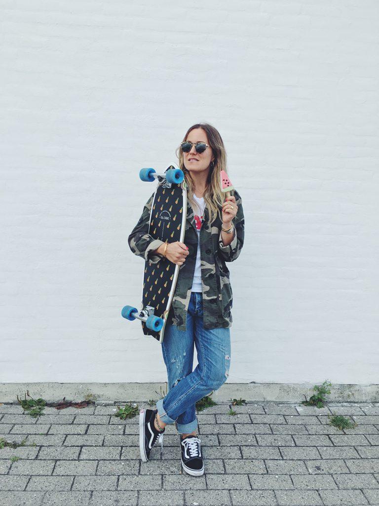 skateboard is