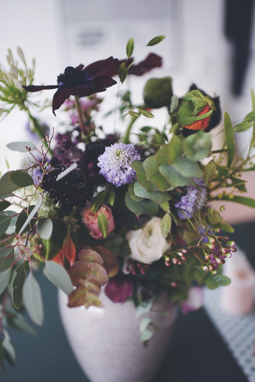 vase med blomster