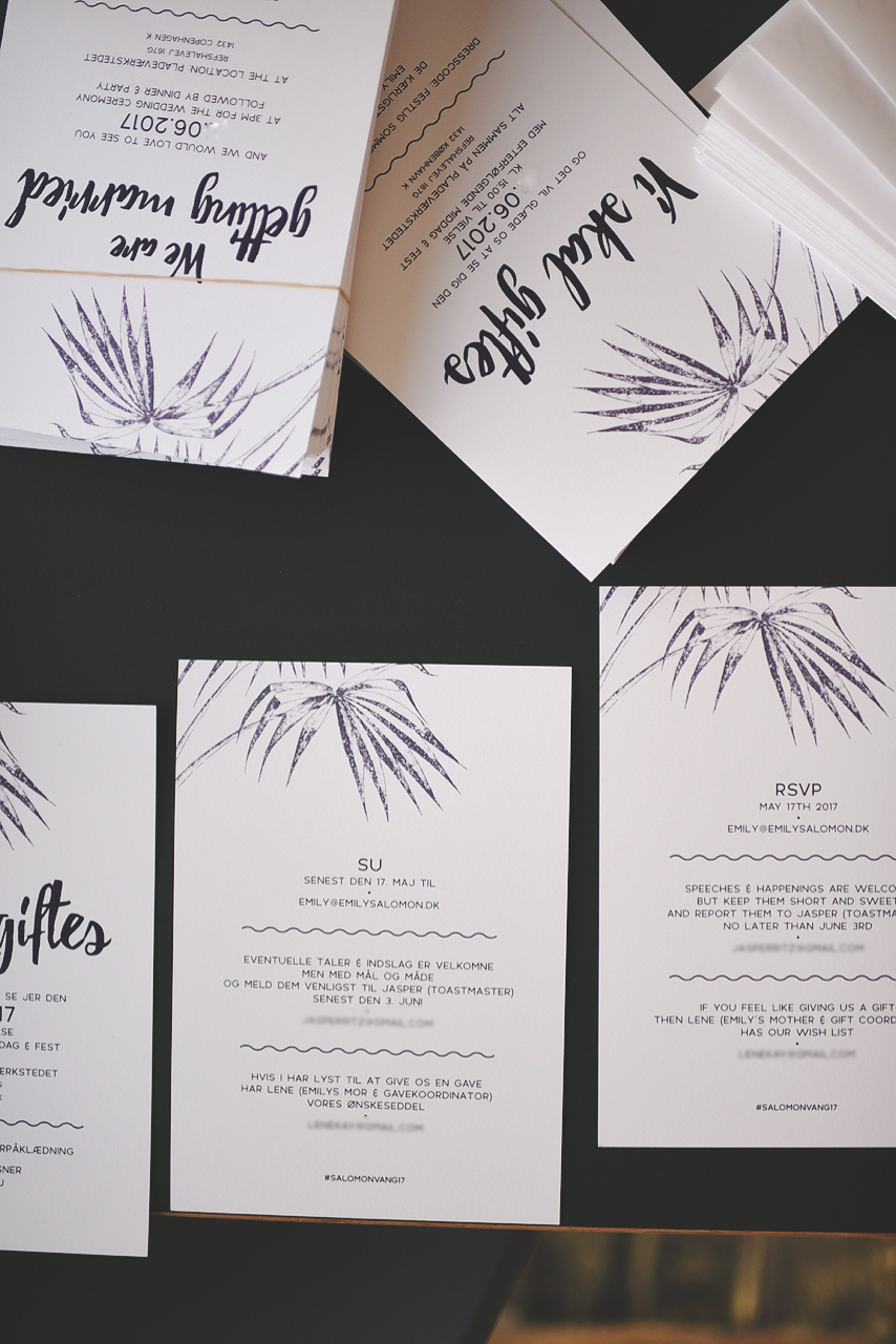 bryllup invitationer emily salomon