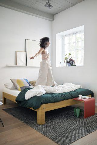 Vind: Bæredygtig Auronde seng fra Auping