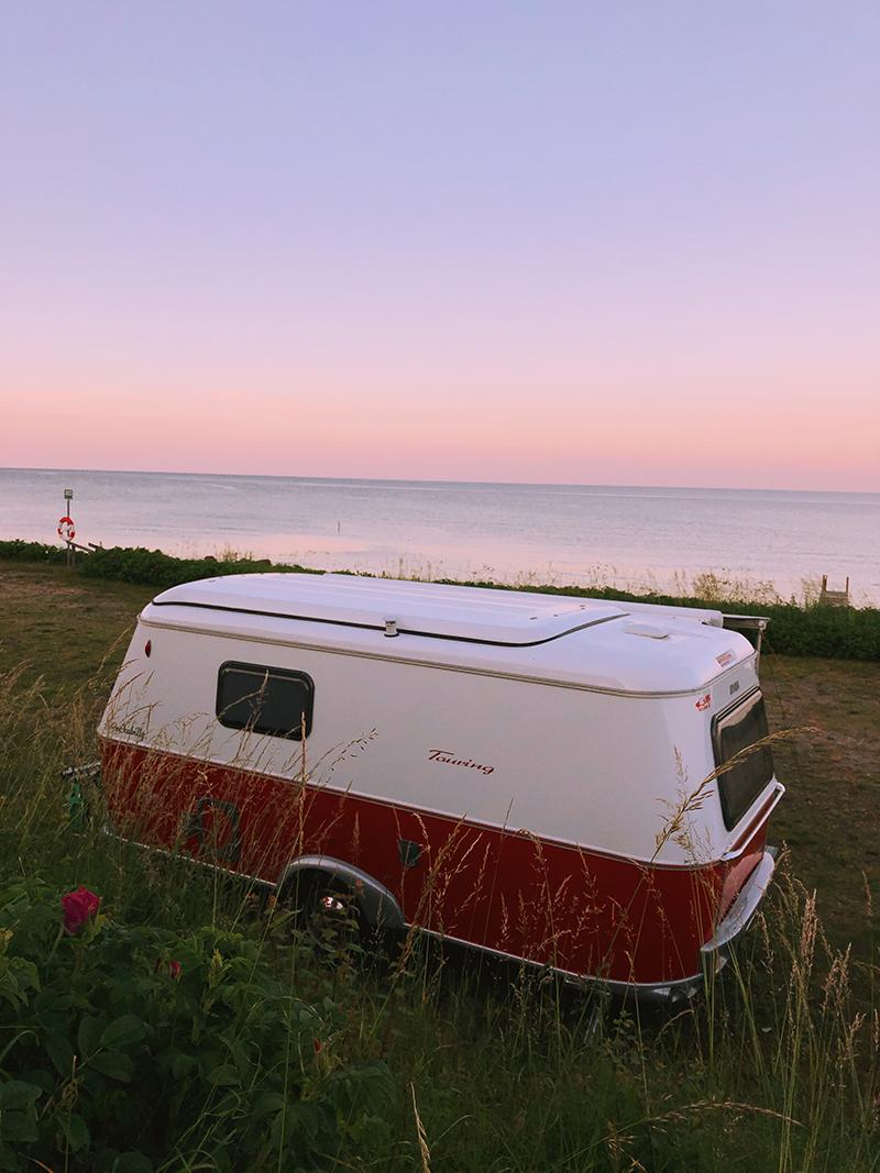 campingvogn solnedgang