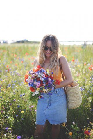 plukke blomster