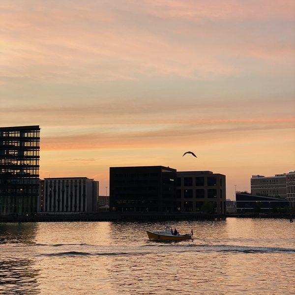 solnedgang fra Islands Brygge